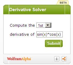 Image result for Derivative Solver Online widget