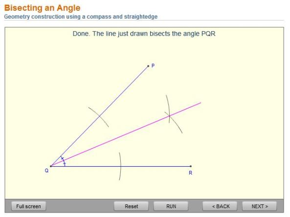 bisect angle Math Open Ref