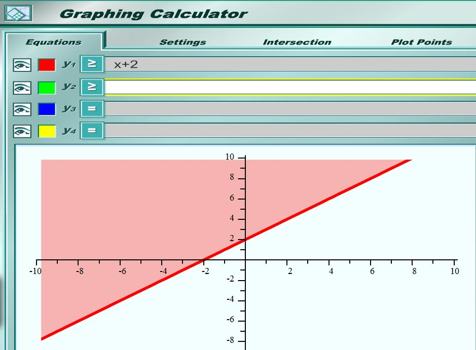 how to put inequalities in graphing calculator