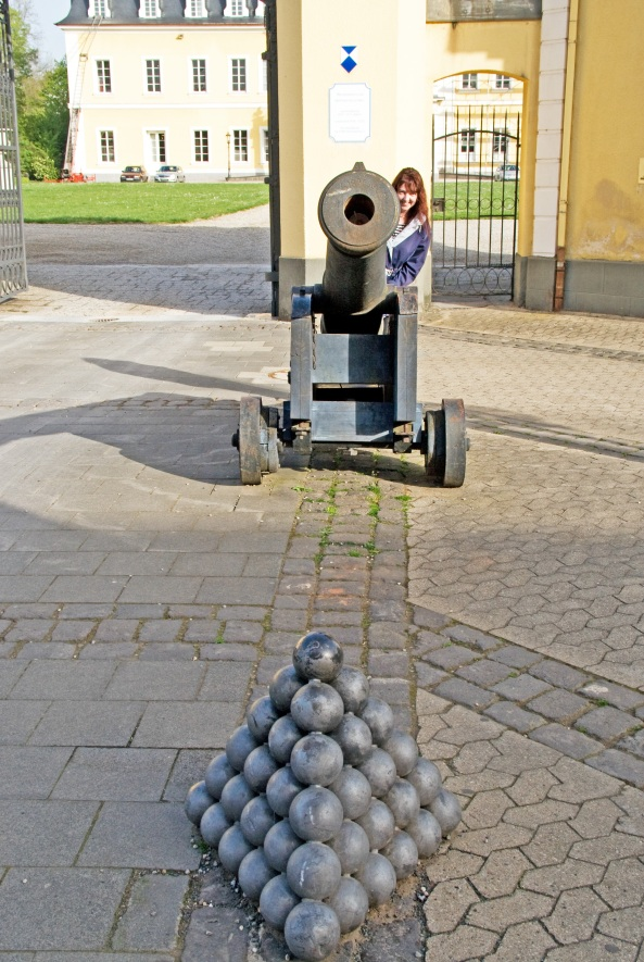 Neuwied Schloss cannons Photograph by David Young