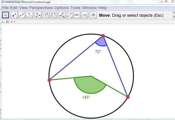 Circle Theorem GeoGebra