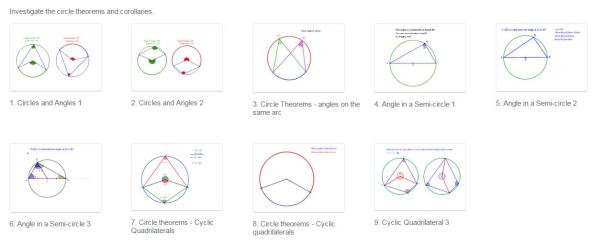 GeoGebra - Circle Theorems