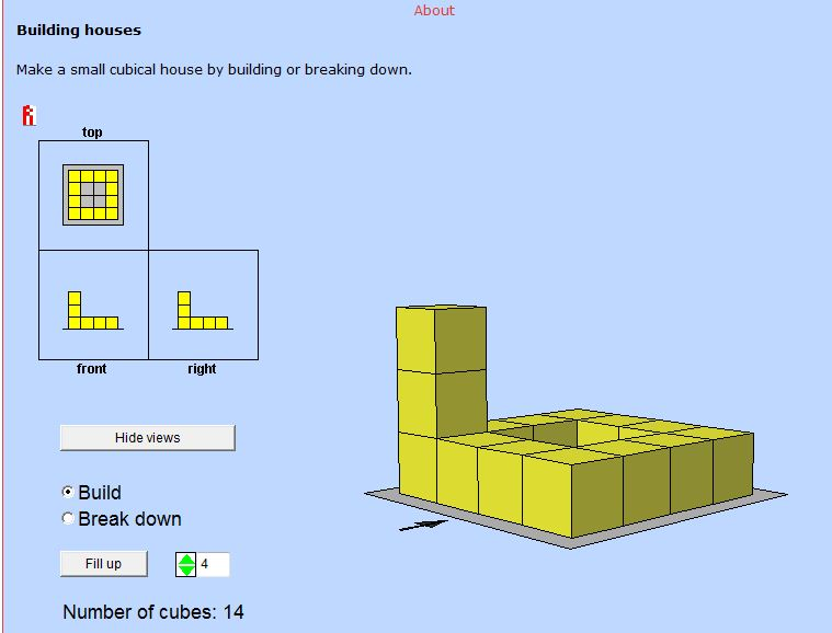 building house with side views