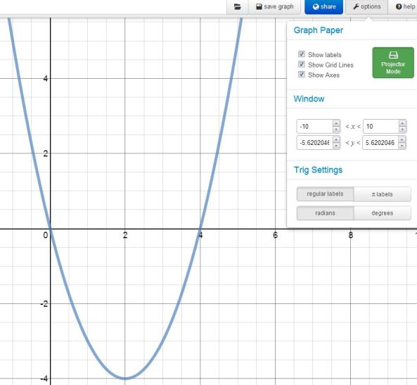 Desmos – Projector Mode | Mathematics, Learning and Technology
