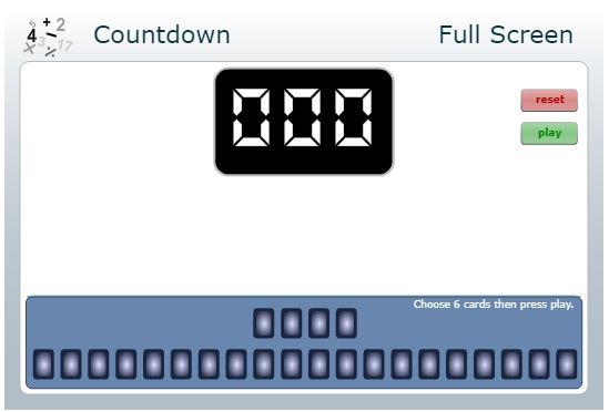 Countdown - Nrich