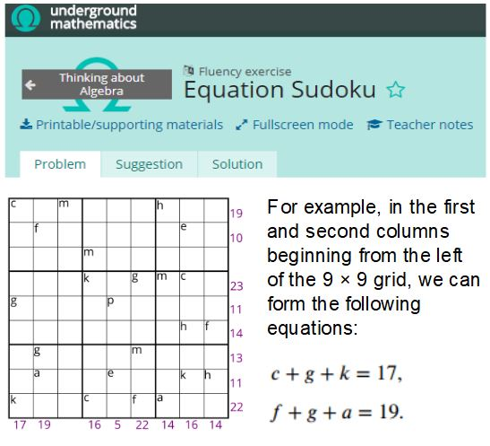 Equation Sudoku