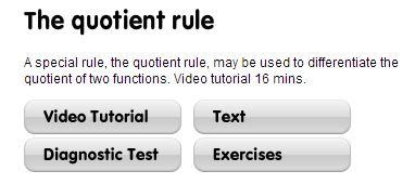 mathcentre - quotient rule