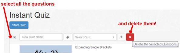 Instant Quiz - delete