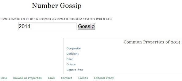 2014 Number Gossip