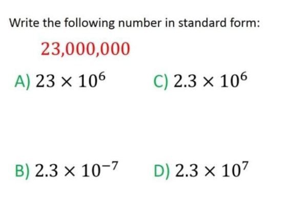 Standard Form Resources Mathematics Learning And Technology