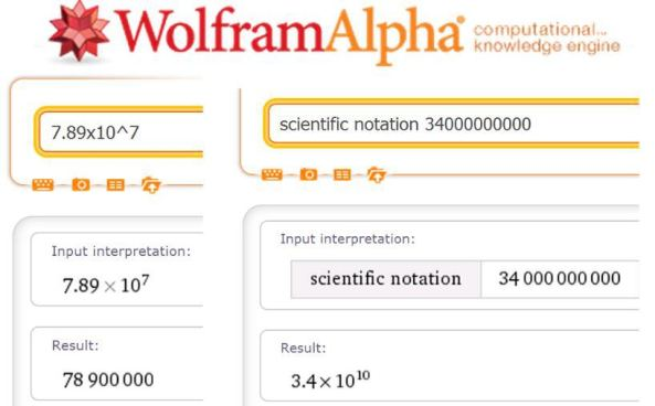 standard-form WolframAlpha syntax