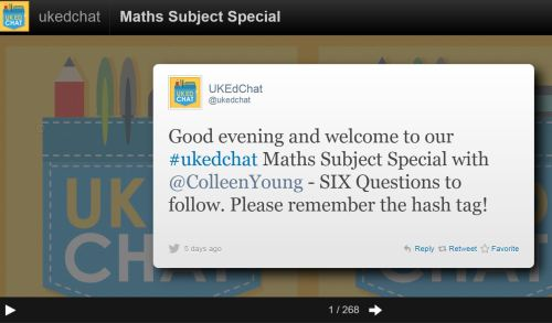 Storify Maths Subject Chat