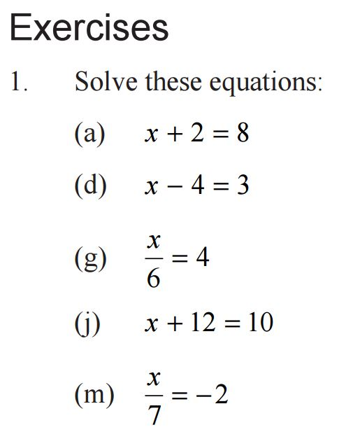 CIMT Linear Equations