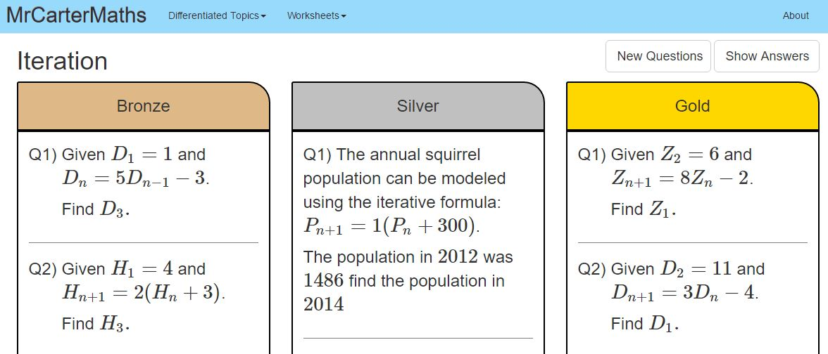 Gcse New Content Iterative Methods For Numerical Solution Of