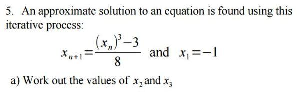 MathsGenie Iteration qn