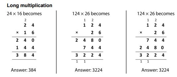 nc long multiplication  mathematics learning and technology nc long multiplication
