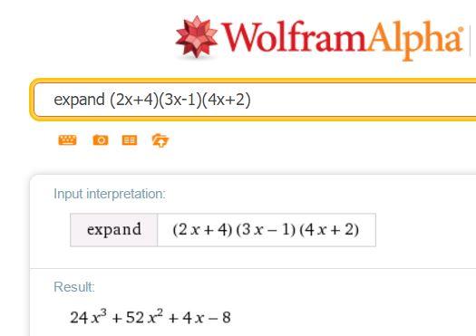WolframAlpha brackets