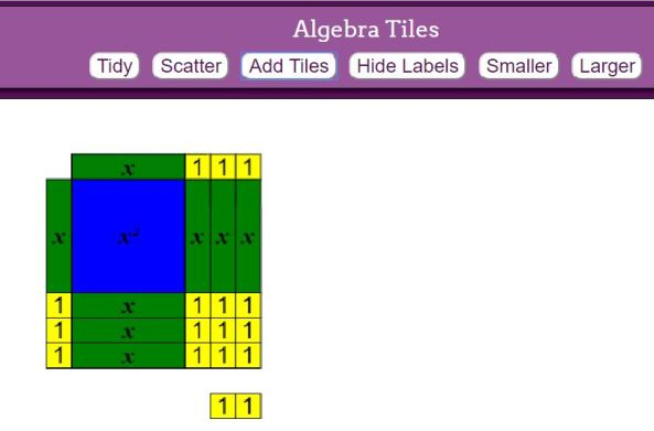 Algebra Tiles mathsbot