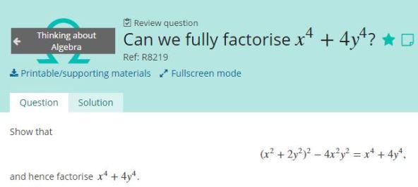 factorise