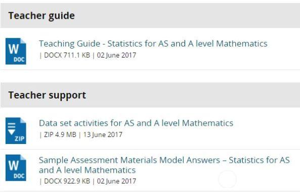 Edexcel Statistics Teaching Materials