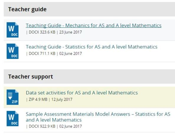 Edexcel teaching Materials