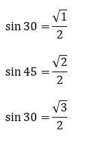 sin-30-45-60