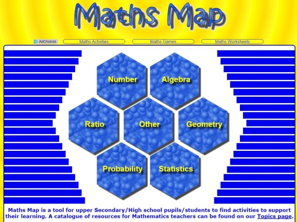 Transum - Maths Map for tudents