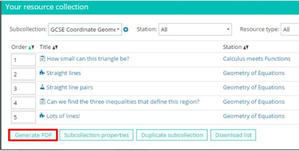 coordinate-geometry-resource-collection