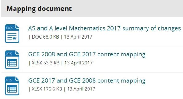 Edexcel Mapping Documents