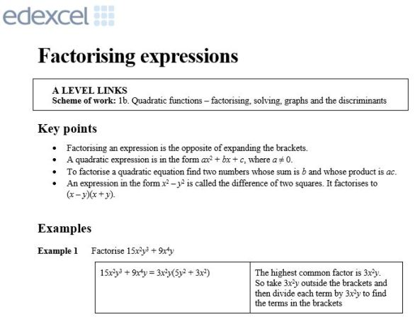 Edexcel Transition2