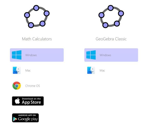 GeoGebra classic & Maths Calculators