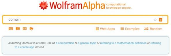 Wolfram Alpha definition 1