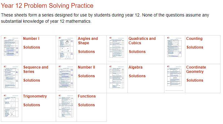 fmsp year 12 problem solving