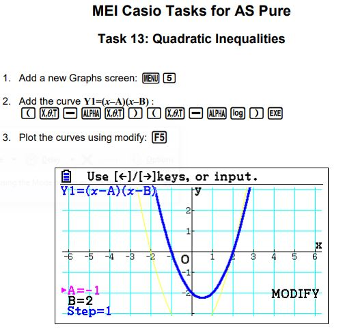 MEI Casio Tasks