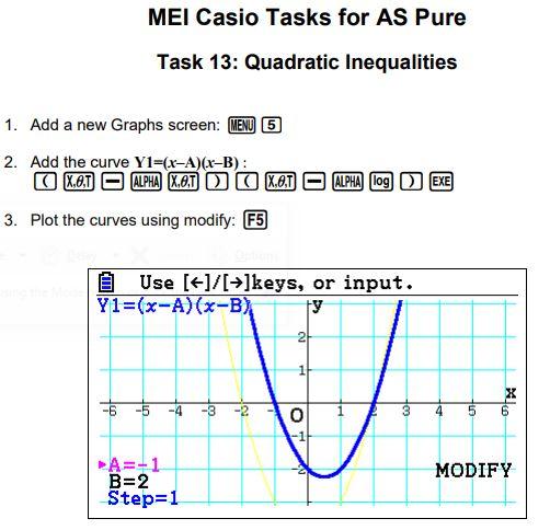 MEI Casio Tasks