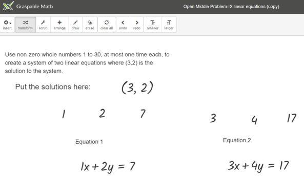 Sim Eq Opn Middle Problem 1