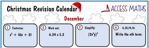 Access Maths Christmas Revision