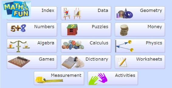 A favourite site \u2013 Mathisfun! is a treasure trove of resources. There are clear indices; the Index from the Home page takes you to the very useful Index by ...