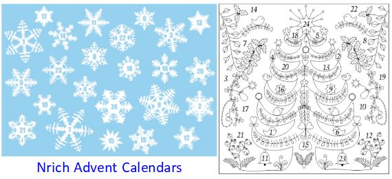 Nrich Advent Calendars