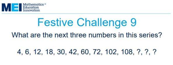 MEI Festive Challenges