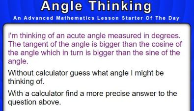 Transum Angle Thinking