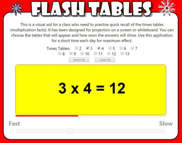 transum-flash-tables