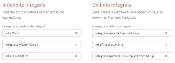 WolframAlphaIntegration Examples