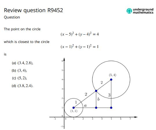 Underground Maths R9452