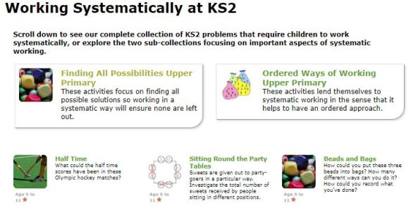 Nrich KS2 Working Systematically