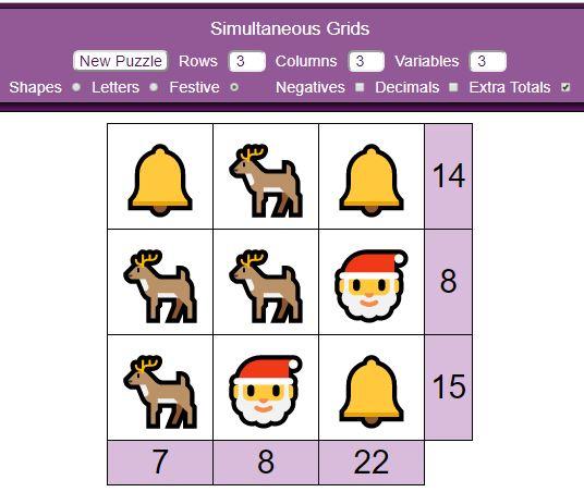 Mathsbot Simultneous Grids