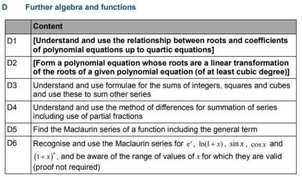 Subject Content Algebra