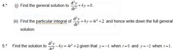 Differential Equations - Check in test OCR B