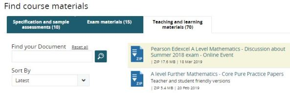 Edexcel new teaching materials