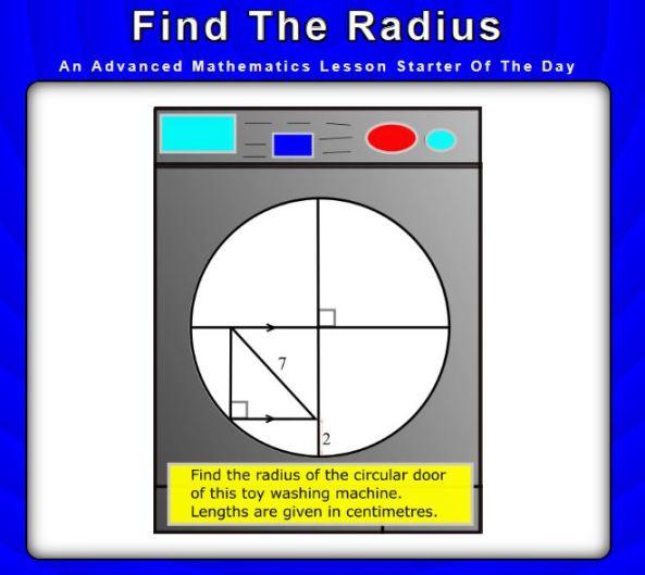 Find the radius - transum